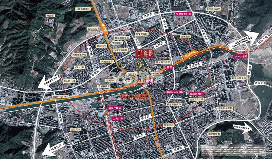中天雅境公寓交通图
