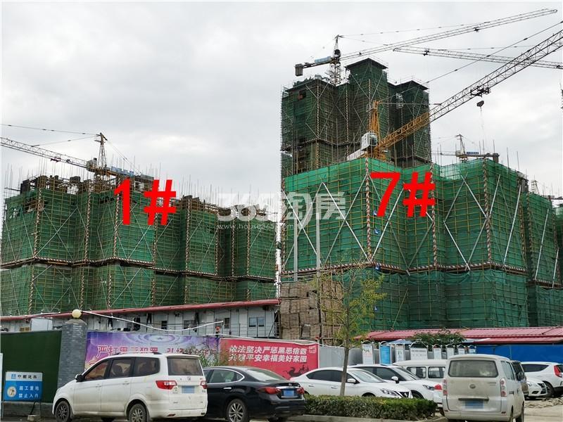 中骏云景台在建1、7#楼实景图(9.25)