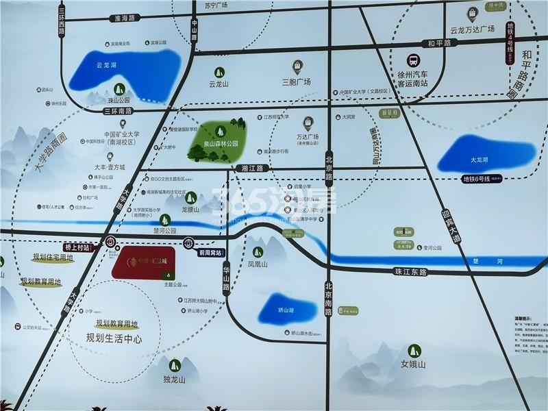 中骏汇景城交通图