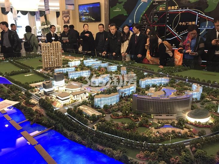 世茂外滩新城项目沙盘实景图(3.17)