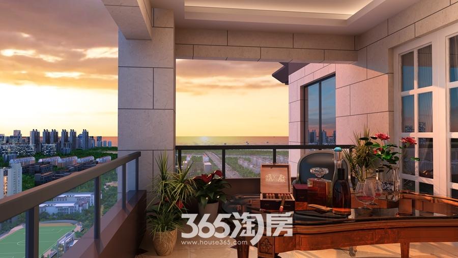 翰林公馆阳台效果图