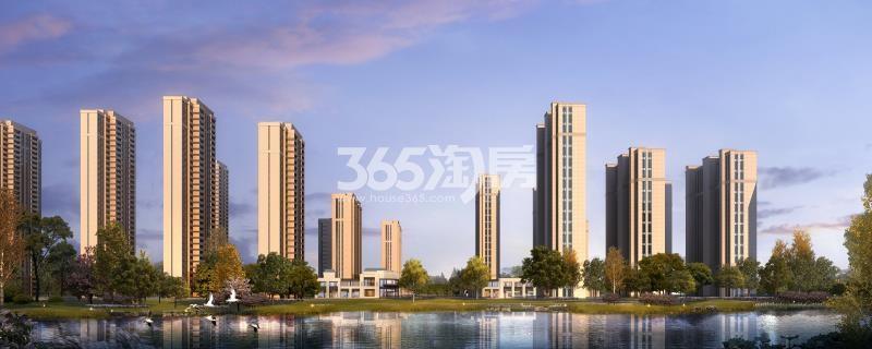 珍宝岛熙悦府项目整体建筑效果图