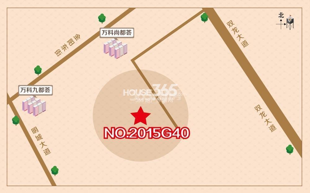 万科南站G40地块区位图