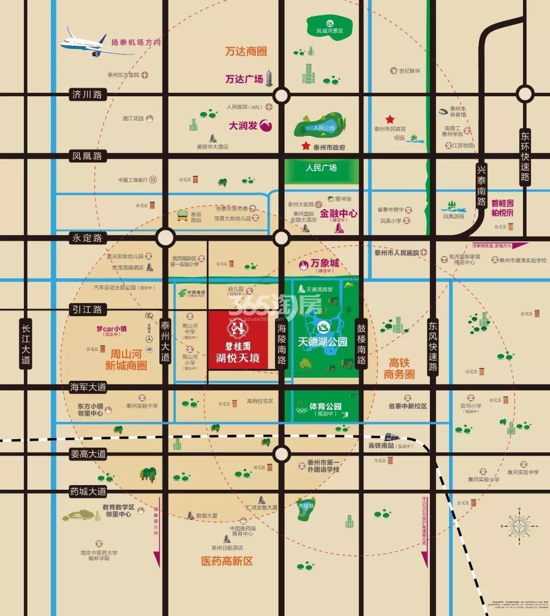 碧桂园·湖悦天境交通图