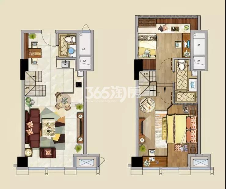金轮双子星国际公寓户型图