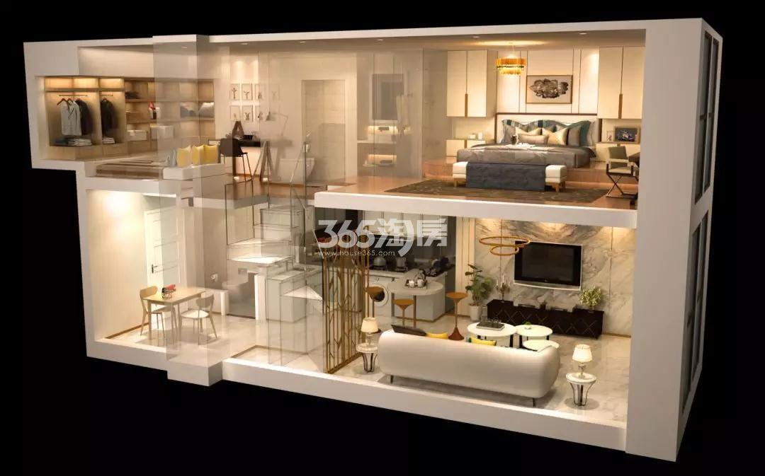 金轮双子星国际公寓效果图