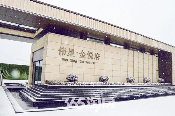 伟星金悦府雪景实景图-大门(2018.1摄)