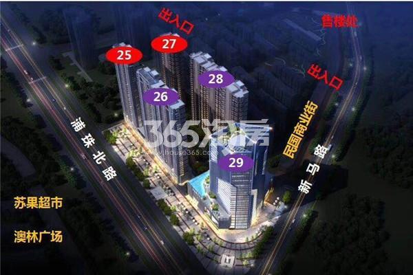 万江共和新城鸟瞰图