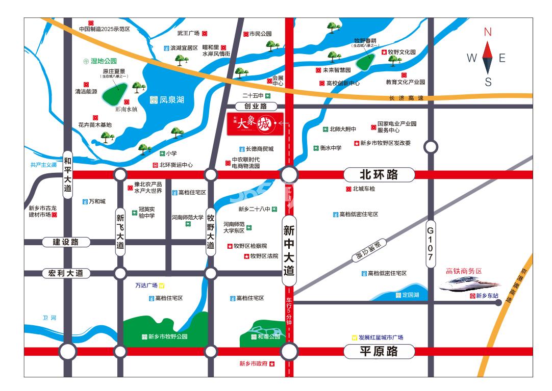 长德大象城商业中心交通图