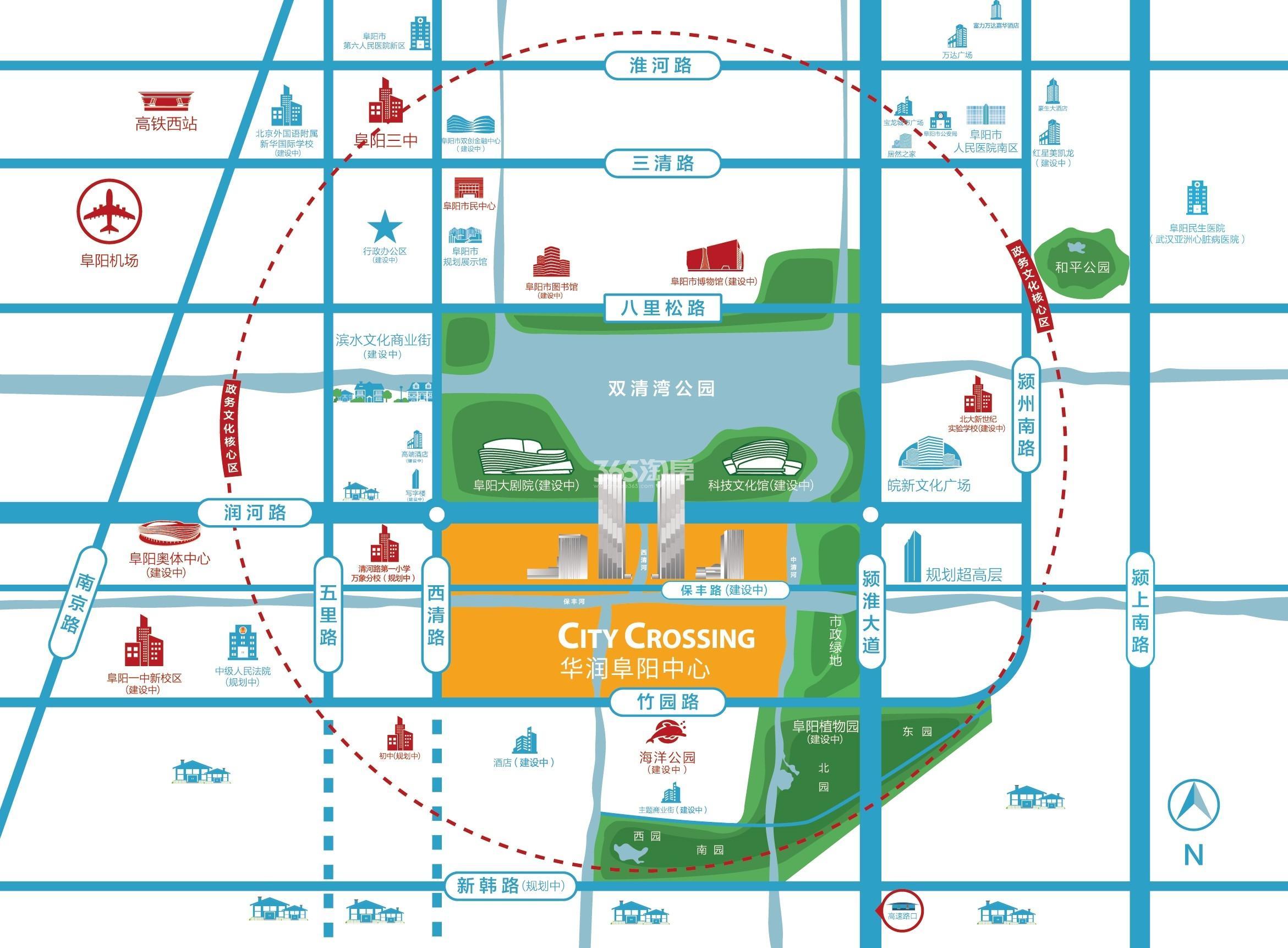 华润阜阳中心交通图