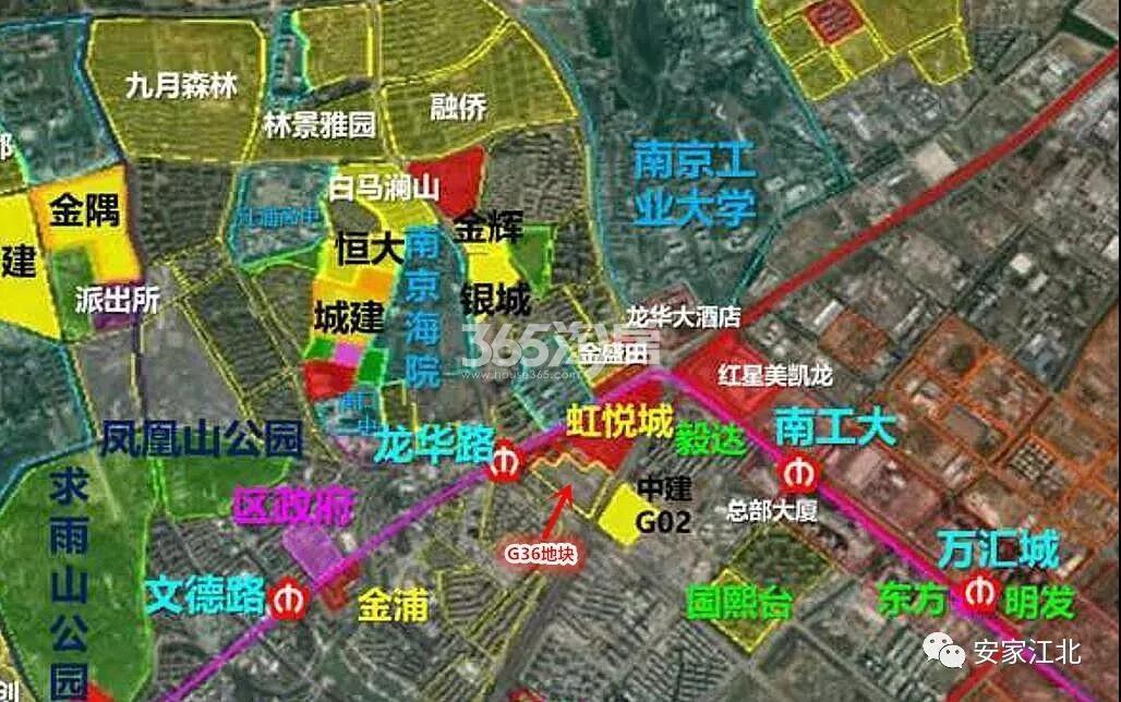 雅居乐江浦G36地块区位交通图