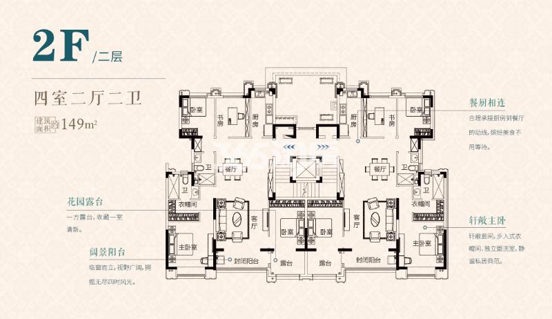 S1二层149㎡户型