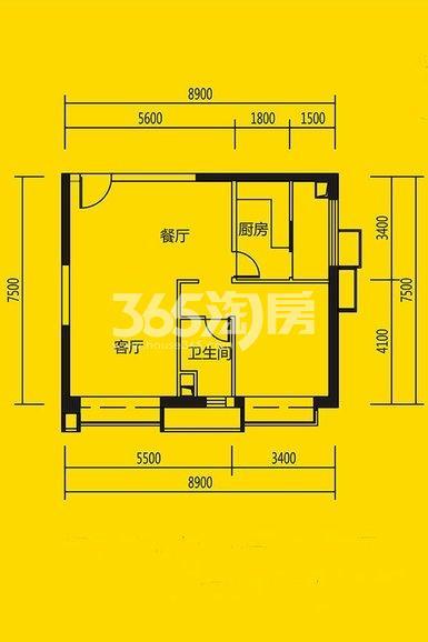 恒大都市广场公寓11#、10#楼1室1厅1卫1厨90平