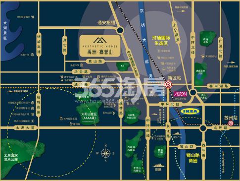 禹洲·嘉誉山交通图