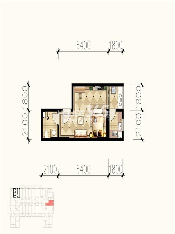 九锦1号K户型图
