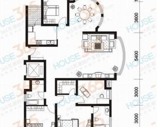 伟星左岸生活4室2厅2卫192平小区花园观景房