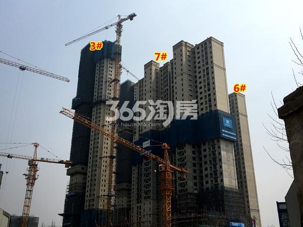 世茂时光里3#、6#、7#楼工程进度实景图(2018.3摄)