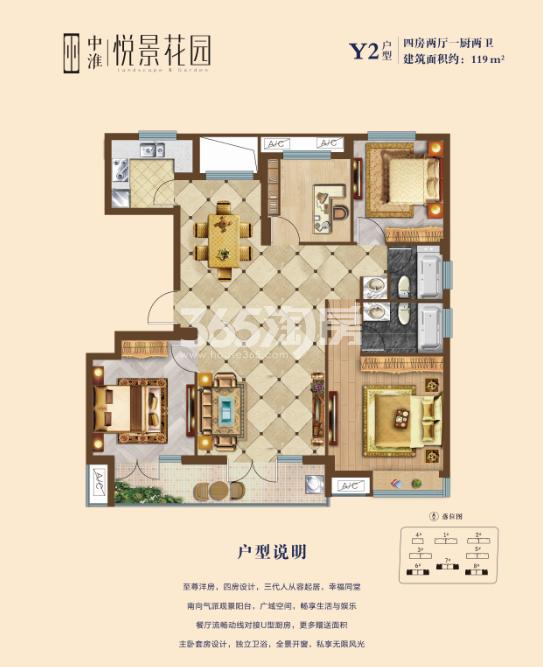 中淮·悦景花园户型图