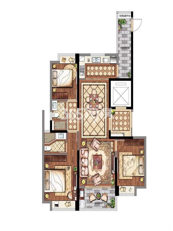 3室2厅 2卫 11# 127㎡