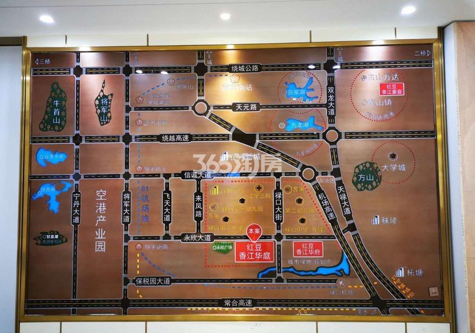 红豆香江华庭交通图