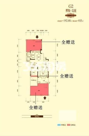 恒大御龙湾洋房G2-24室2厅3卫1厨192.68㎡