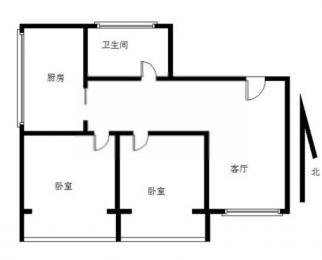 急租 精装2室精装修 拎包入住家电齐全随时看房