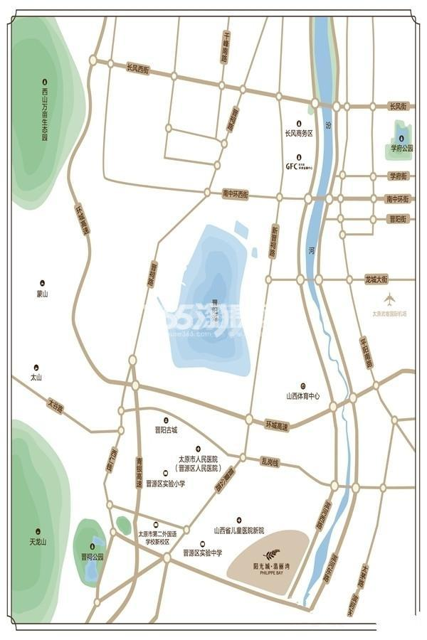 阳光城·翡丽湾交通图