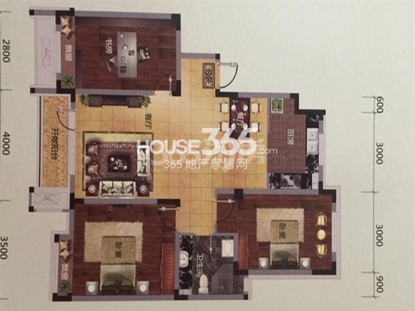 保利溪湖林语 三室两厅一卫一厨-108平