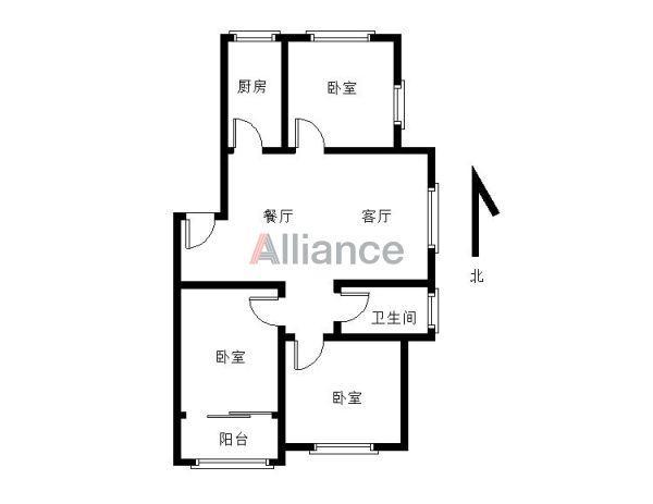 凤凰城南岛红枫轩3室2厅2卫95平米精装边户