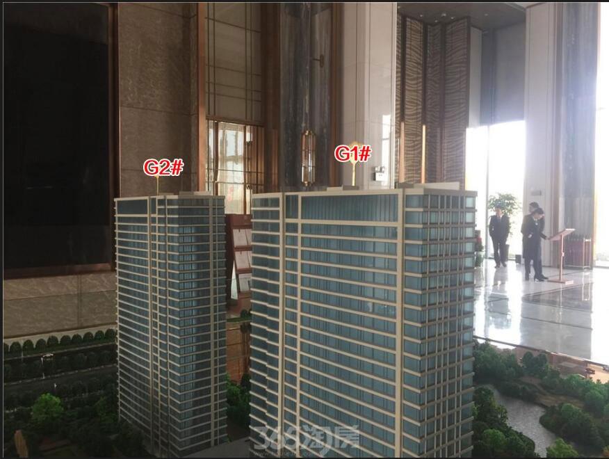 滨湖双玺G1#/G2#沙盘实景图(2018.2.1)