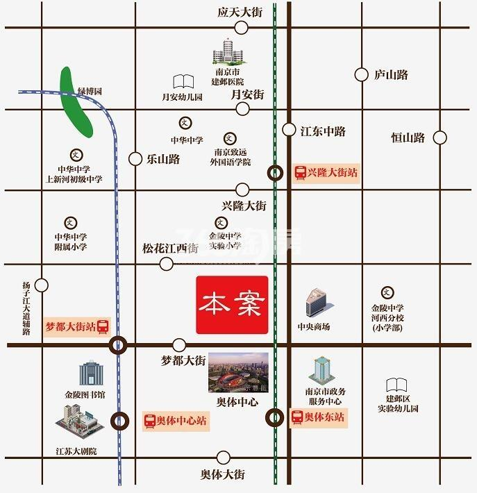 紫辉时代广场交通图