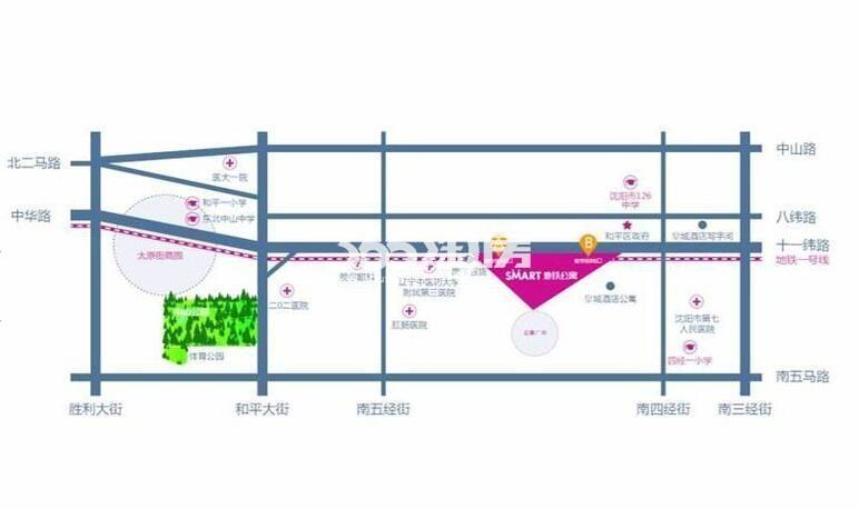 Smart地铁公寓交通图