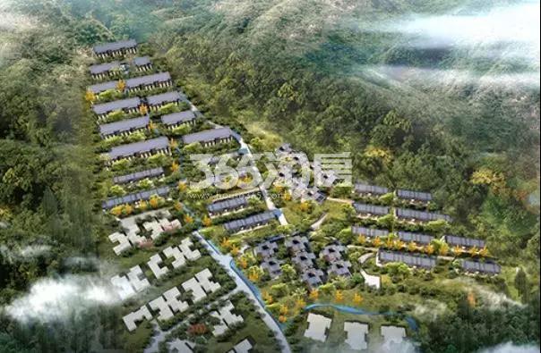 上林湖花园鸟瞰图