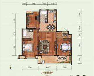 恒禾东尚3室2厅2卫123平米2015年产权房毛坯