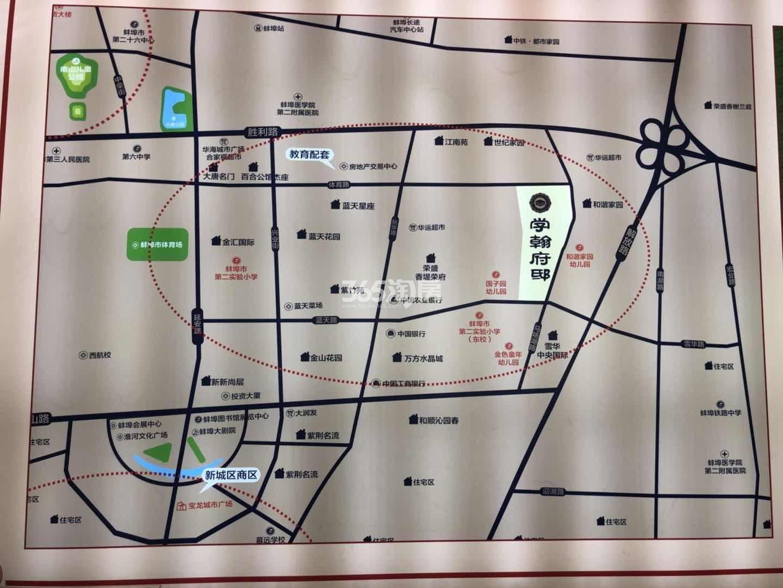 学翰府邸交通图