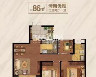 翠屏城3室2厅1卫86平米毛坯整租600元每月