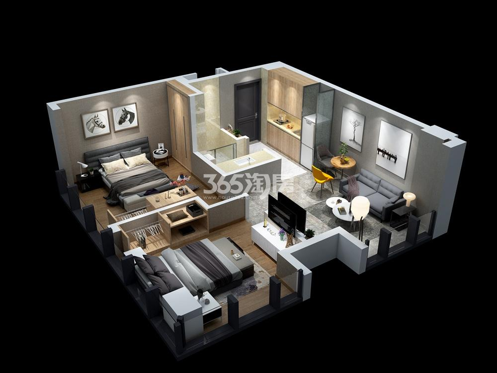 汉中公馆76㎡公寓户型图