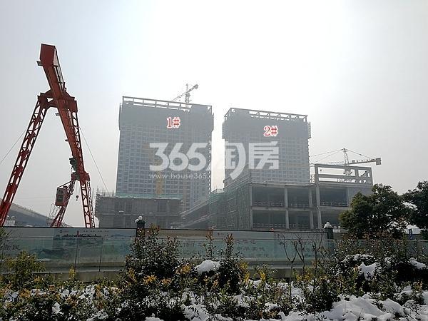 万荟城1#、2#公寓楼及商业最新进展(2018.2)