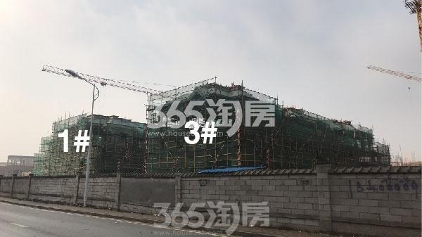 洛城·紫园1#、3#楼联排别墅最新进展(2018.2)