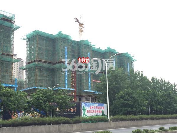 富力运河十号高层10#楼工程实景图(2018.6 摄)