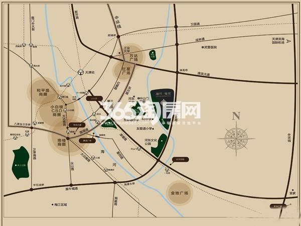 融科瀚棠(河东)交通图
