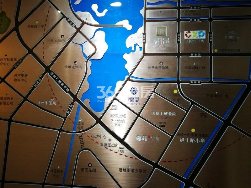 国信上城学府二期交通图
