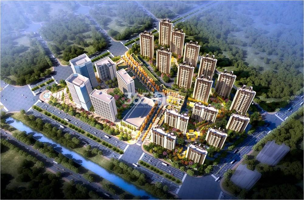 绿地国际产业新城莫兰迪公馆鸟瞰图