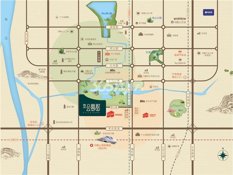 信达·公园郡交通图