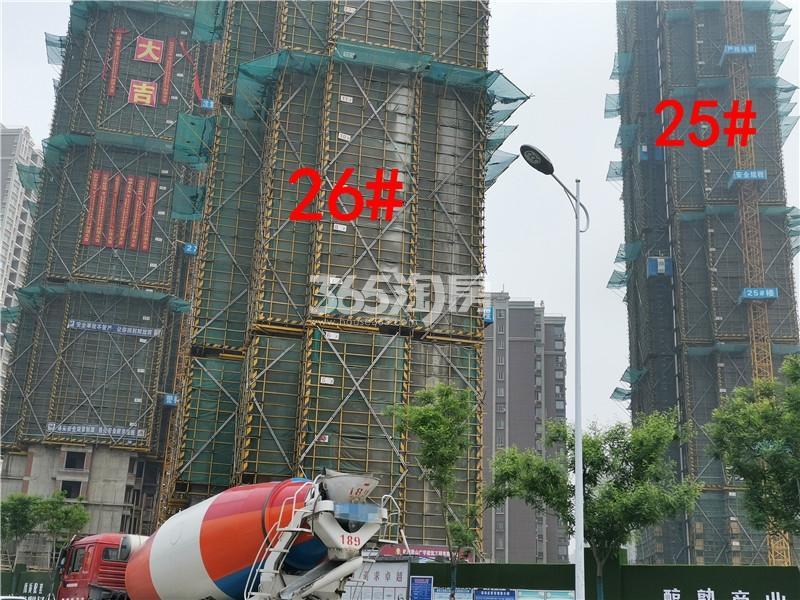 金色年华三期25、26#楼工地实景图(4.25)