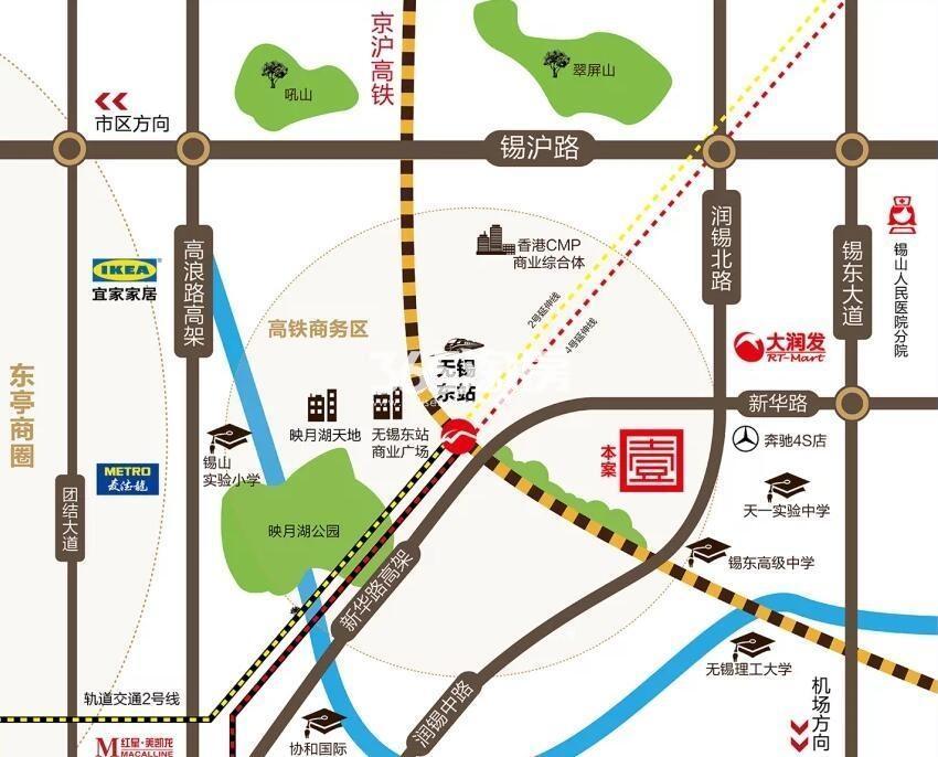 中梁首府壹号交通图