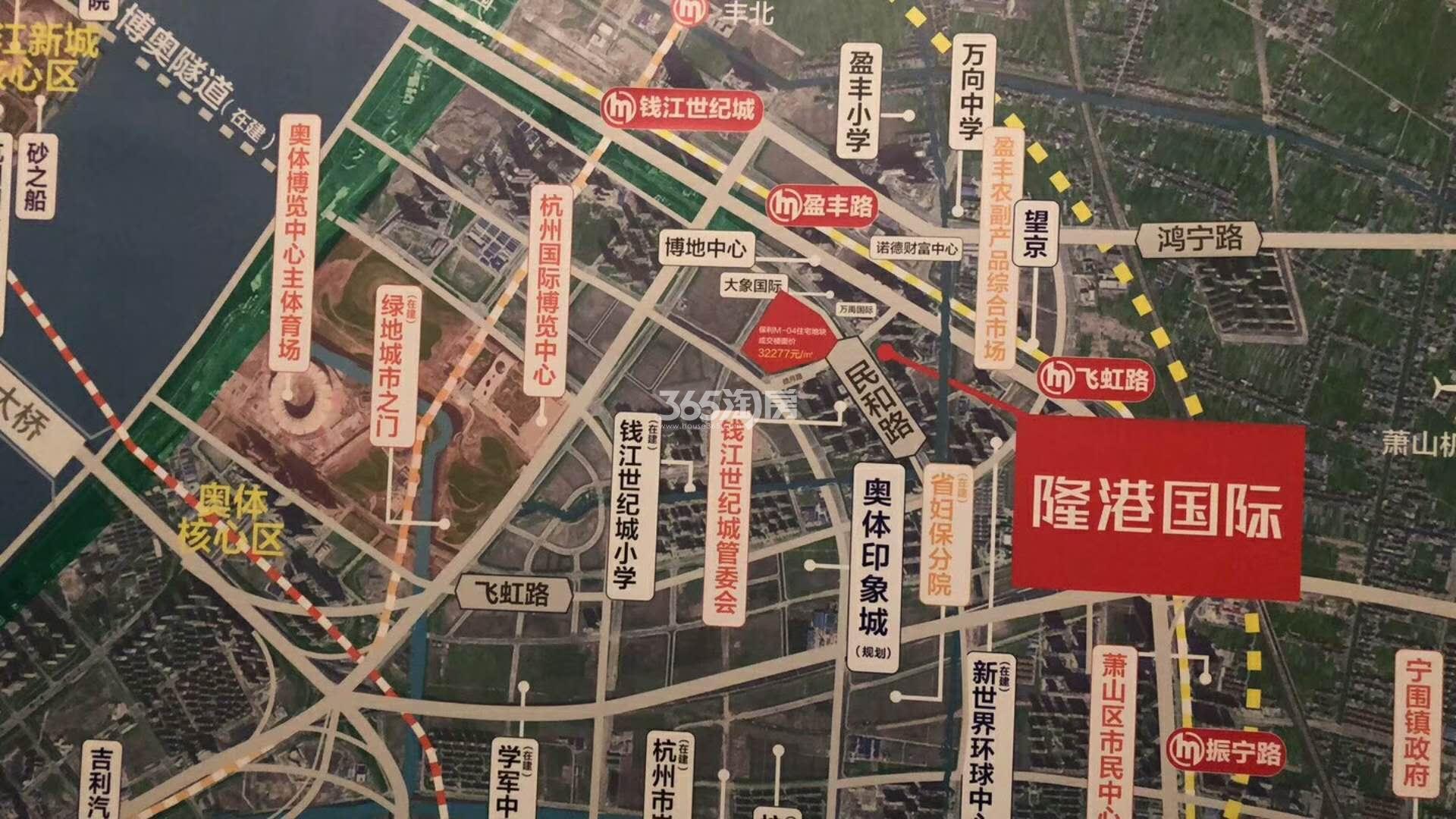 隆港国际交通图