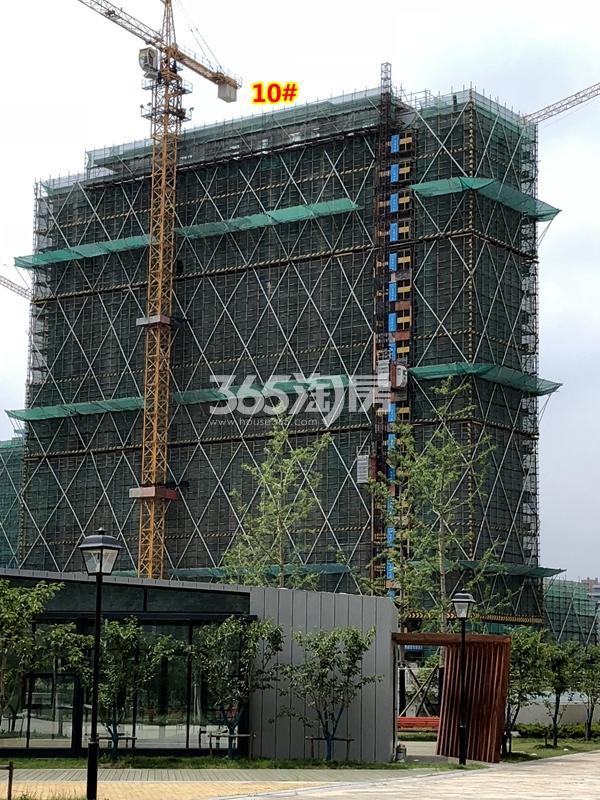 中锐星公元10#楼工程进度实景(2018.6摄)