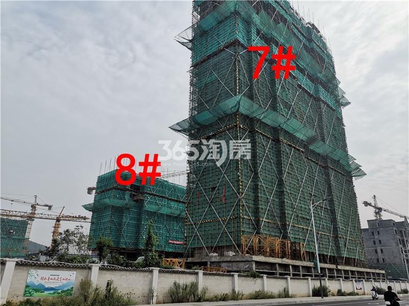 绿地理想城悦湖公馆在建7、8#楼实景图(8.26)