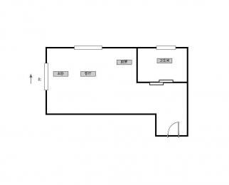 新街口 上海路 侯家桥 精装单身公寓 可月付 有钥匙 看房方便